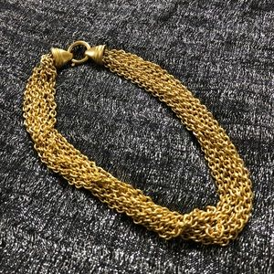 VINTAGE 🎄 1980s gold tone chain link choker